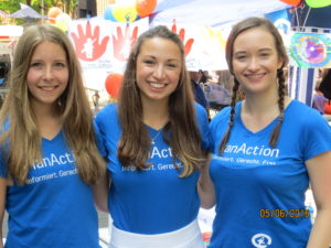 Greta, Luca und Vanessa